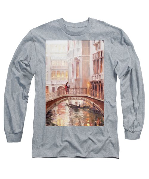 Long Sleeve T-Shirt featuring the painting A Perfect Afternoon In Venice by Steve Henderson