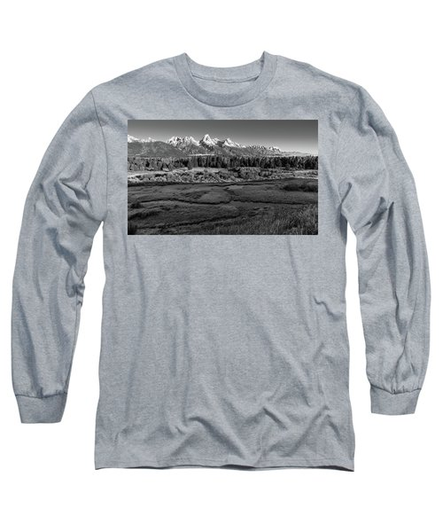A Perfect Frosty Morning In Grey Scale Long Sleeve T-Shirt