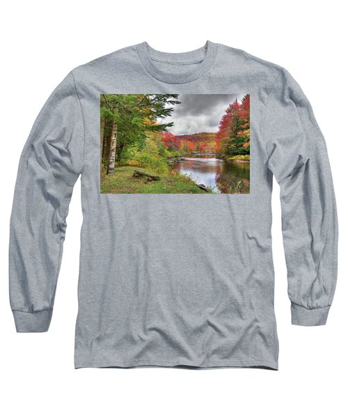 A Place To View Autumn Long Sleeve T-Shirt by David Patterson