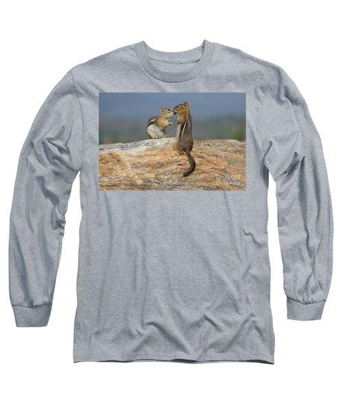 A Quick Kiss Long Sleeve T-Shirt by John Roberts
