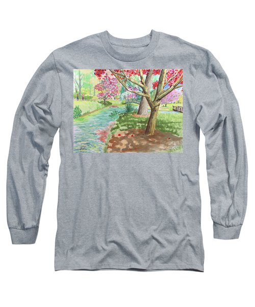 A Quiet Stroll In The Japanese Gardens Of Gibbs Gardens Long Sleeve T-Shirt