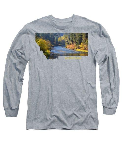 A River Runs Thru Autumn Long Sleeve T-Shirt