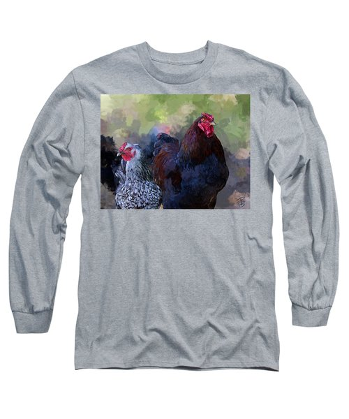 A Rooster And A Hen Long Sleeve T-Shirt