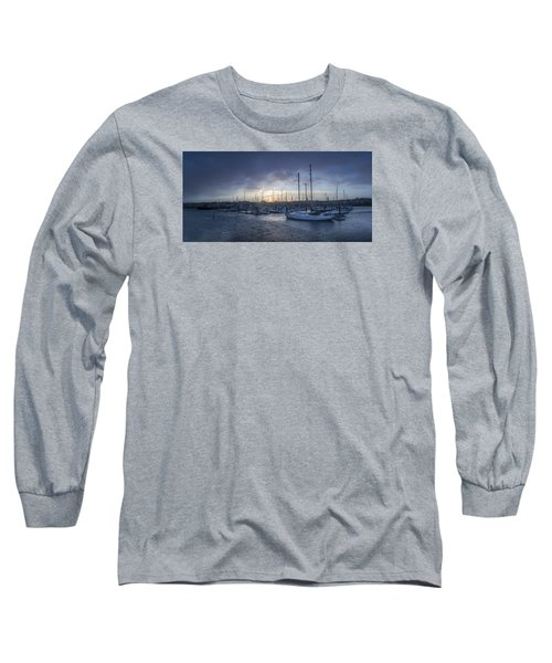 A Sailors Warning At Bangor Marina Long Sleeve T-Shirt