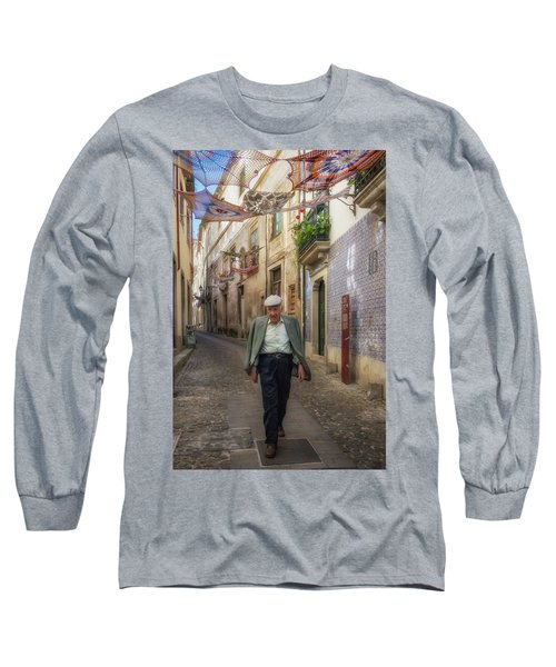 Long Sleeve T-Shirt featuring the photograph A Stoll In Coimbra by Patricia Schaefer
