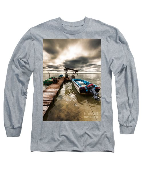 A Storm Brewing Long Sleeve T-Shirt by Lawrence Burry