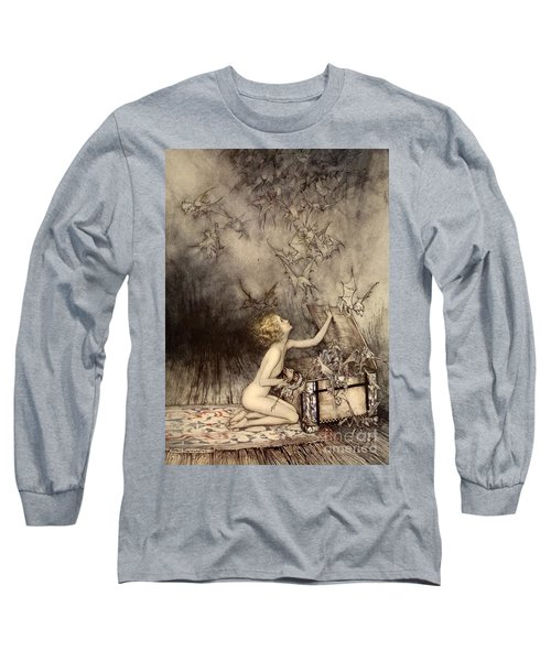 A Sudden Swarm Of Winged Creatures Brushed Past Her Long Sleeve T-Shirt
