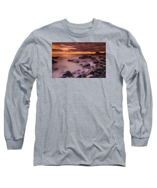 A Sunset At Track Beach Long Sleeve T-Shirt