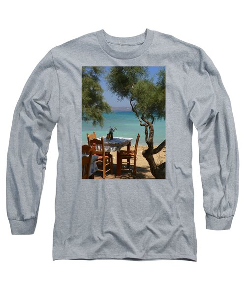 A Table Underneath The Welcoming Shade Long Sleeve T-Shirt