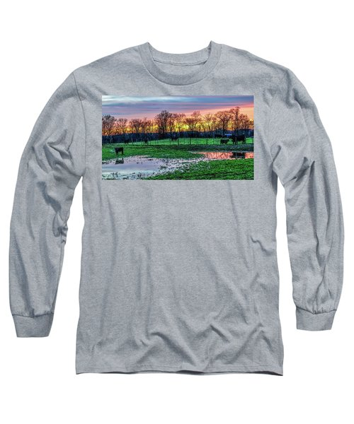 A Time For Reflection Long Sleeve T-Shirt by Jeffrey Friedkin
