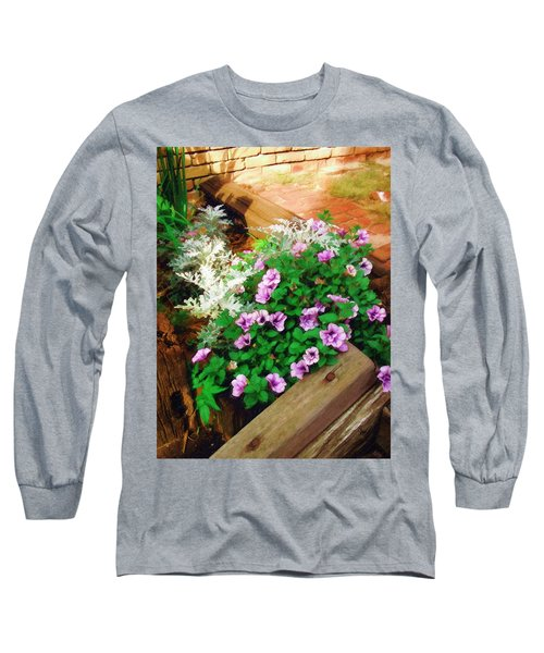 Long Sleeve T-Shirt featuring the painting A Touch Of Nature by Sandy MacGowan