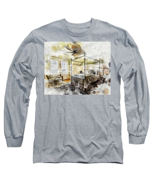 A Traditional Bedroom Long Sleeve T-Shirt