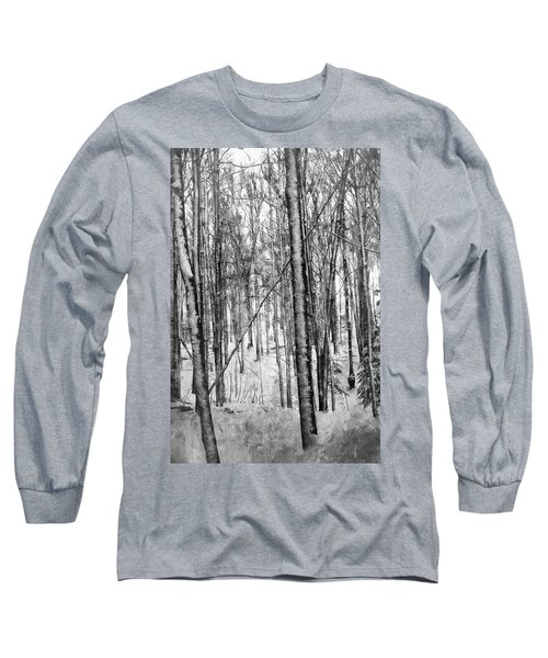 A Tree's View In Winter Long Sleeve T-Shirt