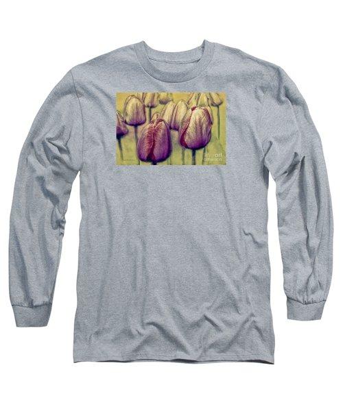 A Tulip Affair Long Sleeve T-Shirt by Jean OKeeffe Macro Abundance Art