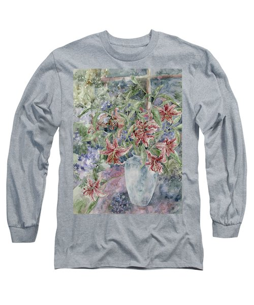 A Vase Of Lilies Long Sleeve T-Shirt by Kim Tran