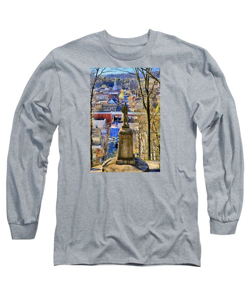 Long Sleeve T-Shirt featuring the photograph A View From College Hill by DJ Florek