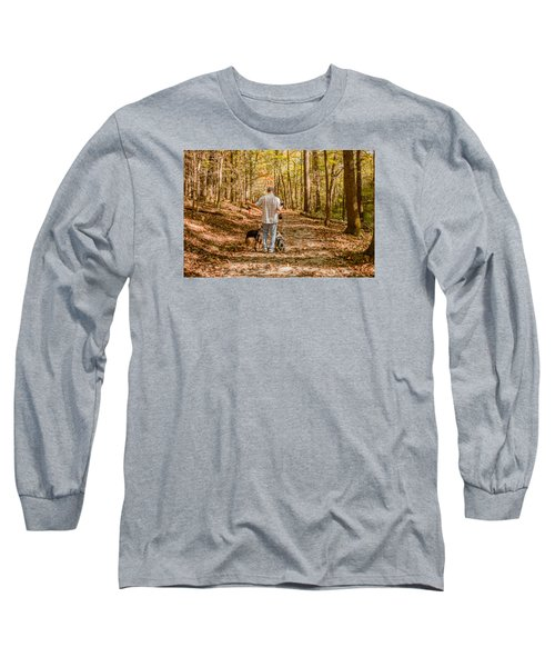 A Walk In The Woods Long Sleeve T-Shirt by Cathy Donohoue