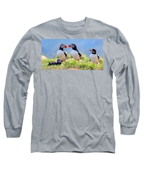 A World Of Puffins Long Sleeve T-Shirt
