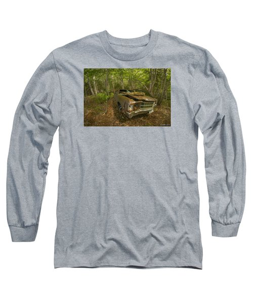 Abandoned Chevelle In Cape Breton Long Sleeve T-Shirt by Ken Morris