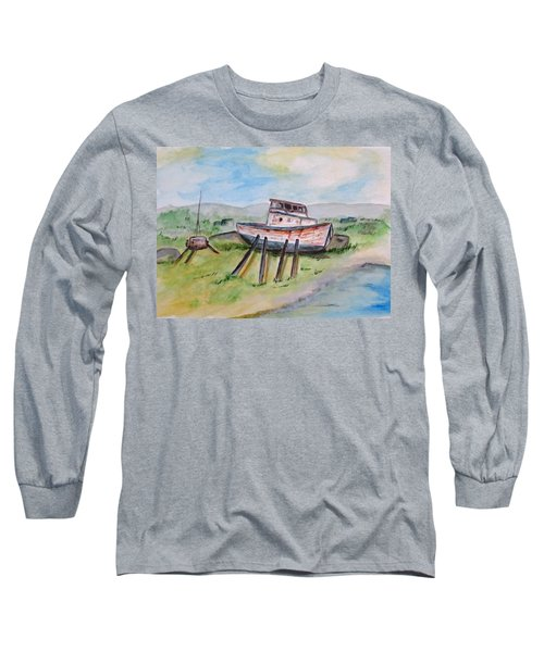 Abandoned Fishing Boat Long Sleeve T-Shirt