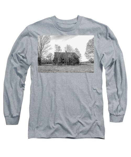Long Sleeve T-Shirt featuring the photograph Abandoned House Queenstown, Md  by Charles Kraus