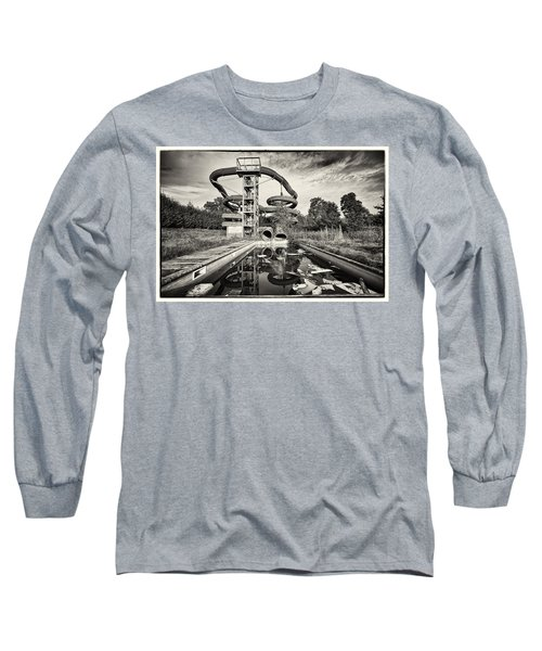 Long Sleeve T-Shirt featuring the photograph Lets Have A Splash - Abandoned Water Park by Dirk Ercken