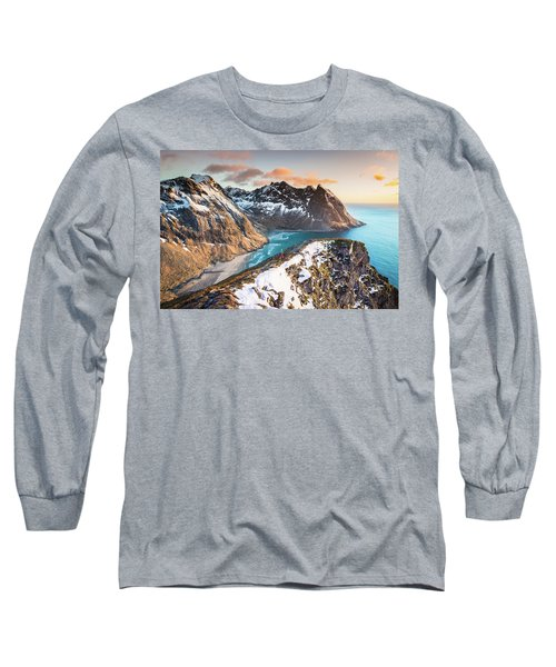 Above The Beach Long Sleeve T-Shirt by Alex Conu
