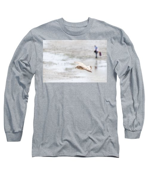Long Sleeve T-Shirt featuring the photograph Above The Watten Sea 2 by Hannes Cmarits