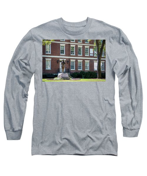 Long Sleeve T-Shirt featuring the photograph Abraham Baldwin Statue At Uga by Parker Cunningham