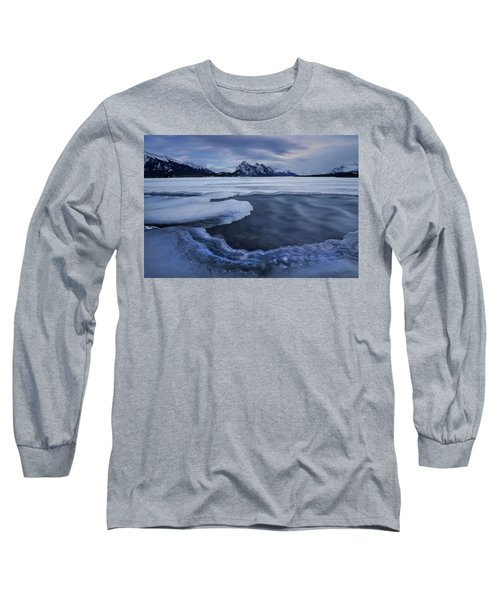 Abraham Lake Sans Bubbles Long Sleeve T-Shirt