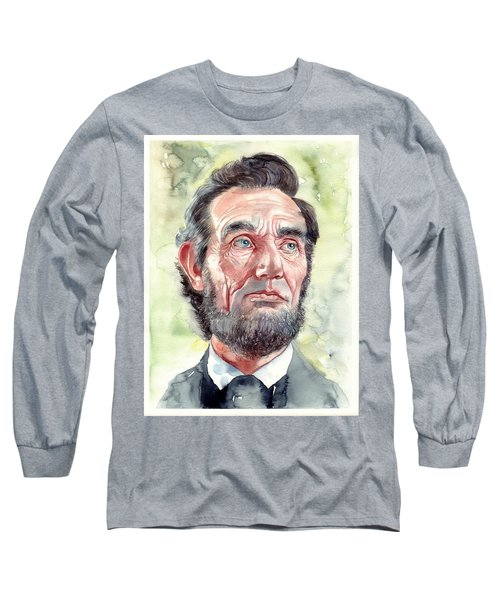 Abraham Lincoln Portrait Long Sleeve T-Shirt