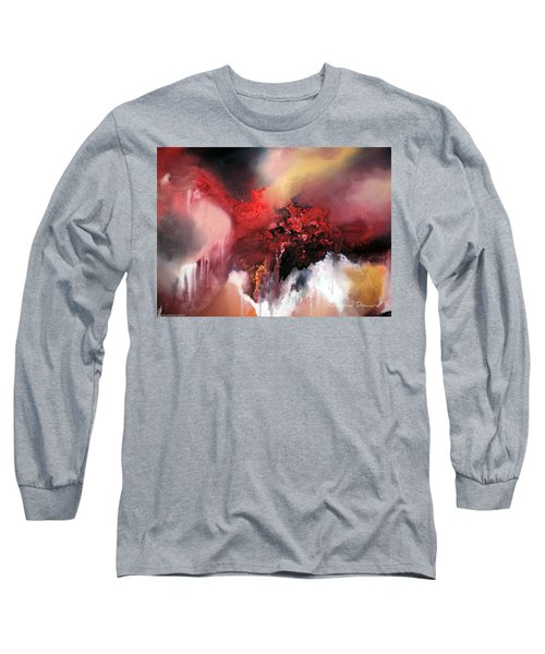 Long Sleeve T-Shirt featuring the painting Abstract #02 by Raymond Doward