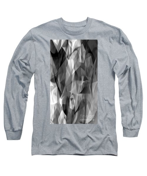 Long Sleeve T-Shirt featuring the digital art Abstract Black And White Symphony by Rafael Salazar