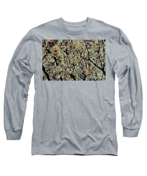 Abstract Blossoms Long Sleeve T-Shirt
