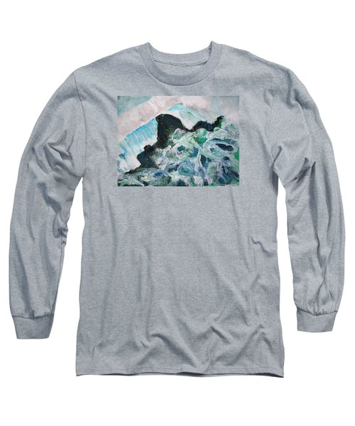 Abstract Crashing Waves Long Sleeve T-Shirt