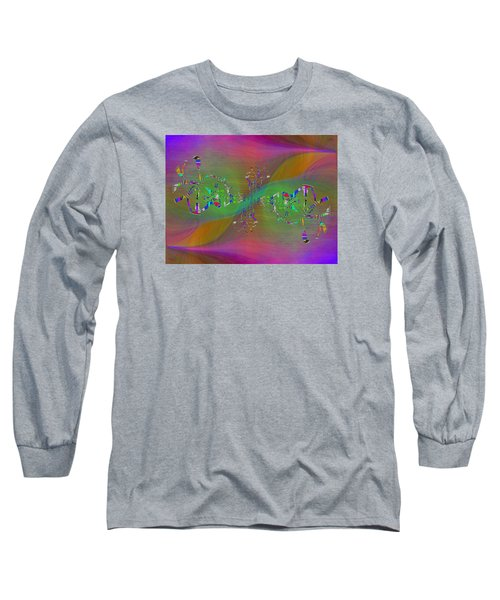 Long Sleeve T-Shirt featuring the digital art Abstract Cubed 376 by Tim Allen