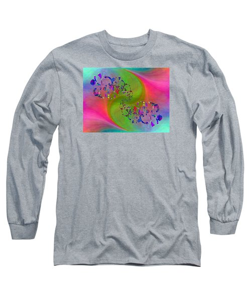 Long Sleeve T-Shirt featuring the digital art Abstract Cubed 381 by Tim Allen