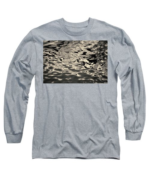 Abstract Dock Reflections I Toned Long Sleeve T-Shirt