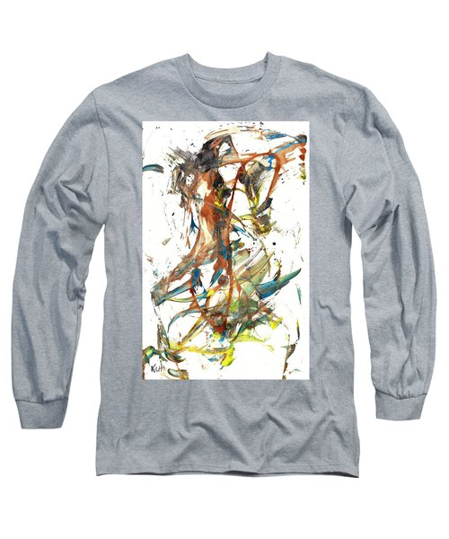Long Sleeve T-Shirt featuring the painting Abstract Expressionism Painting Series 1039.050812 by Kris Haas