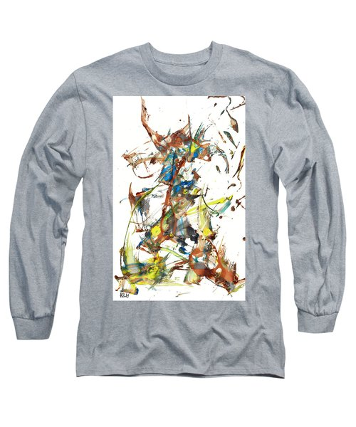Long Sleeve T-Shirt featuring the painting Abstract Expressionism Painting Series 1040.050812 by Kris Haas