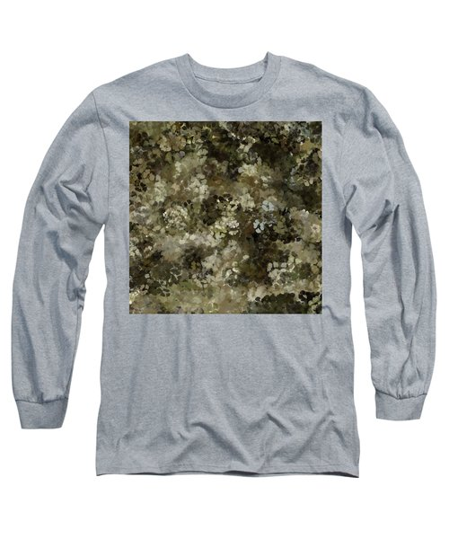 Long Sleeve T-Shirt featuring the mixed media Abstract Gold Black White 5 by Clare Bambers