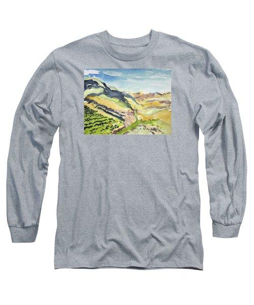 Abstract Hillside Long Sleeve T-Shirt
