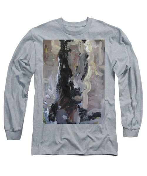 Long Sleeve T-Shirt featuring the painting Abstract Horse Painting by Robert Joyner
