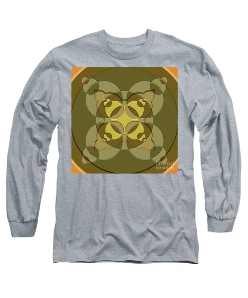 Abstract Mandala Green, Dark Green And Brown Pattern For Home Decoration Long Sleeve T-Shirt