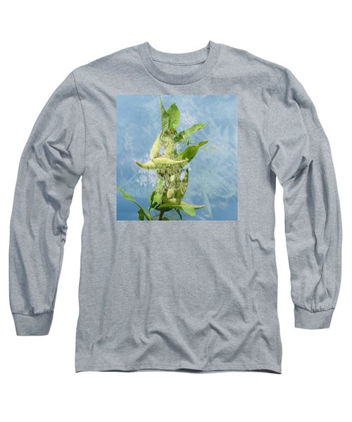 Abstract Milkweed Long Sleeve T-Shirt by Jeanette Oberholtzer