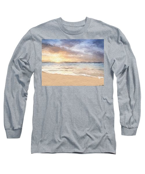 Abstract Morning Tide Long Sleeve T-Shirt by Anthony Fishburne