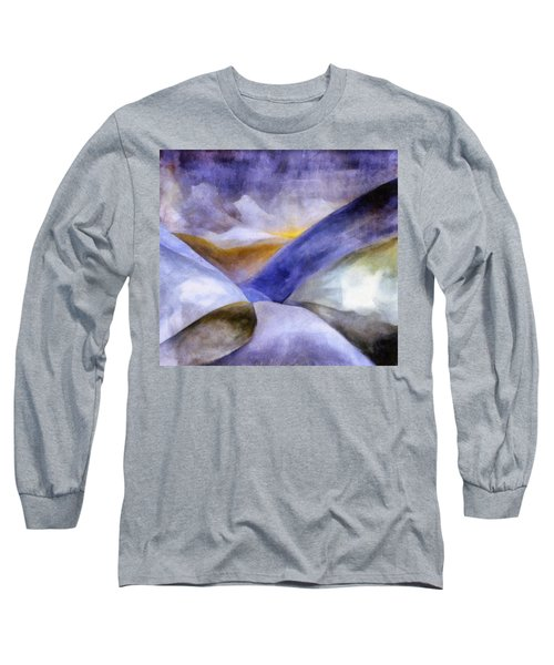 Abstract Mountain Landscape Long Sleeve T-Shirt
