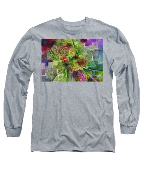 Long Sleeve T-Shirt featuring the digital art Abstract Of Color by Deborah Benoit