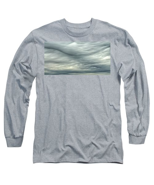 Abstract Of The Clouds 2 Long Sleeve T-Shirt by Gary Slawsky