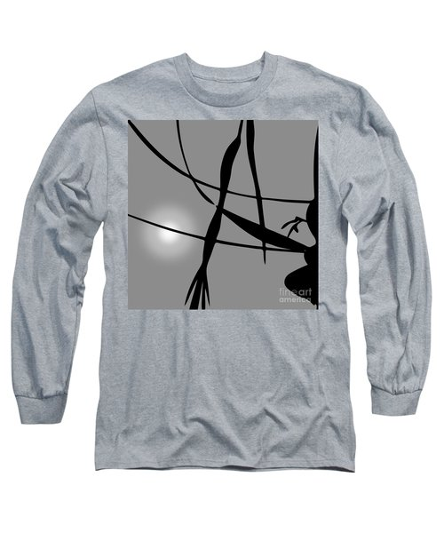 Abstract Reflection Long Sleeve T-Shirt